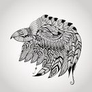 Animal Head,Profile View,Silhouette,Raven,Eagle - Bird,Hawk - Bird,Aztec,Falcon - Bird,Posing,Raven,North American Tribal Culture,Pattern,Bird,Animal,Sign,Ilustration,Native American,Tattoo,Religion,Spirituality,White,Ink,Drawing - Art Product,Ethnic,Pride,Indigenous Culture,Beak,Design Element,hand drawn,Native American Style,Contour Drawing,Nature,Vector,Tribal Chief,Power,Drawing - Activity,Animals In The Wild,Symbol,Mascot,Freedom,Curve,Design,Aggression,Spotted,Outline,Black Color,Beast