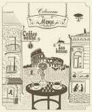 Italy,Cafe,Rome - Italy,Sketch,Coliseum,Table,Women,Old-fashioned,Coffee - Drink,Menu,Love,Tea Room,Famous Place,Street,Single Flower,Urban Scene,Europe,House,Wall,Drink,Food,Window,Road,Couple,Old,Discussion,Blimp,Roof,Vector,Store,Vase,Cup,Restaurant,Tourism,Banner,Ilustration,Domestic Cat,Bicycle,Tea - Hot Drink,Built Structure,City,Men,Cartoon,Sign,Book Cover,Architecture,Breakfast