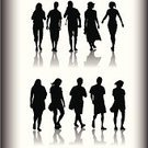 Walking,Silhouette,People,Women,Family,Back Lit,Shadow,Female,Men,Friendship,Vector,Adult,Male,Computer Graphic,Togetherness,Isolated On White,Clip Art,Ilustration,Adults,Families,People,Lifestyle,Color Gradient