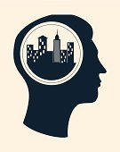 City,Built Structure,Environment,People,Thinking,Human Head,Urban Scene,Window,Design,Land,Downtown District,Modern,Silhouette,Cityscape,Vector,Ilustration,Set