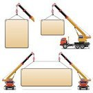 Crane - Construction Machinery,Mobile Crane,Truck,Placard,Toy,Model,Car,Building - Activity,Poster,Billboard Posting,Loading,Sheet,Business,Picking Up,Symbol,Engraved Image,Orange Color,Land Vehicle,Icon Set,Working,Sign,Vector,Blackboard,Computer Icon,Transportation,Freight Transportation,Shipping,Delivering,Cargo Container,Moving Up,Cabin,Blank,Construction Industry,Disk,Wheel,Red,Industry,Steel Cable,Hook,Plate,Machinery