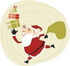 Santa Claus,Christmas,Running,Winter,Humor,Gift,Cartoon,Modern,Doodle,Bag,Characters,Fun,Holiday,Sketch,Ilustration,Vector,Drawing - Art Product,Design,People,Sack,Caricature,Computer Graphic,Men,December,Style,Smiling,Hat,One Person,Ideas,Creativity,Concepts,Image,Coat,Male