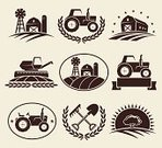 Agriculture,Symbol,Farmer,Tractor,Sign,Farm,Vegetable,Vector,Badge,Fruit,Merchandise,Ilustration,Leaf,Insignia,Food,High Angle View,Freshness,Backgrounds,Computer Graphic,Label,Organic