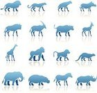 Gorilla,Safari Animals,Safari,Vector,Computer Icon,Symbol,Antelope,Silhouette,Africa,Hyena,Elephant,Warthog,African Buffalo,Cut Out,Monkey,Isolated,Cheetah,Zebra,Clip Art,Animal,Animal Themes,Design,Ape,Gazelle,Outline,Cartoon,Baboon,Wildlife,Isolated On White,Set,White Background,Ilustration,Oryx,Hippopotamus,Primate,Design Element,Rhinoceros,Giraffe,Lion - Feline,Large Group of Objects,Digitally Generated Image,No People,Collection,Blue