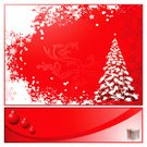 Christmas,Snowflake,Christmas Ornament,Tree,Gift,Winter,Holiday,Christmas Decoration,Frame,Red,Ilustration,Decoration,Cultures,Art,Celebration,Copy Space,Color Image,Holidays And Celebrations,Christmas,Illustrations And Vector Art,Season,2008,Concepts And Ideas