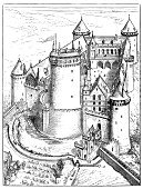 Old,Castle,Cultures,Obsolete,Antique,Sketch,Ilustration,Painted Image,Engraved Image,Retro Revival,Coucy,Isolated,Black And White,Art,19th Century Style,History,Drawing - Art Product,Isolated On White,Château De Coucy,Print,France,Science,Classical Style,Old-fashioned,French Culture,Victorian Style