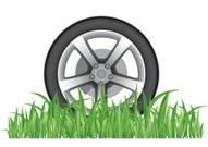 Wheel,Environment,Grass,Environmental Conservation,Tire,Green Color,Transportation,Road,White Background,Isolated,Business,Ilustration,Vector