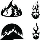 Mountain,Forest Fire,Symbol,Brush Fire,Fire Pieris,Fire - Natural Phenomenon,Computer Icon,Flame,Silhouette,Vector,Burning,Hill,Disaster,Design Element,Natural Disaster,Set,Vector Icons,Nature Symbols/Metaphors,Vector Cartoons,Clip Art,Ilustration,Illustrations And Vector Art,Nature