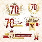 Birthday,70s,Sign,Memorial,Jubilee,Event,Design,Ribbon,Anniversary,Award,Gold Colored,70th Birthday,Ornate,Luck,Honor,Retro Revival,Vector,Label,Number,Red,Seal - Stamp,Candle,Text,Collection,Party - Social Event,Ceremony,Pyrotechnics,Insignia,Celebration,Ilustration,Design Element,Graduation,Star Shape,Congratulating,Human Age,Decoration,Set,Symbol,Sparkler