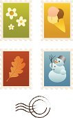Postage Stamp,Mail,Frame,Postmark,Winter,Springtime,Oak Leaf,Autumn,Global Communications,Letter,Summer,Retro Revival,Ice Cream,Old,Symbol,Snowman,Sending,Season,Icon Set,Correspondence,Collection,Vector,Leaf,Flower,Office Supply,Snow,Red,Year,Illustrations And Vector Art,Set,Communication,stamp collection,Concepts And Ideas,Ilustration,Green Color,Yellow,Communication,Blue,Old-fashioned,Flower Head,Lush Foliage