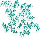 Flower,Single Flower,Floral Pattern,Pattern,Plant,Nature,Silhouette,Ornate,Environment,Green Color,Gardening,Botany,Environmental Conservation,Formal Garden,Twisted