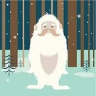 Yeti,Snow,Bare Tree,Forest,Fear,Woodland,Animal Hair,Characters,Bear,Fur,Mythology,Cute,Halloween,Monster,Winter,Friendship,Fantasy,Cartoon,Monkey,Cheerful,Snowflake,Animal,Tree,People,Animals In The Wild,Manga Style,Humor,Style,Animal Mouth,Happiness,Communication,Smiling,Cloud - Sky,Bizarre,Footprint,Concepts,Wildlife,Ape
