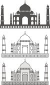Taj Mahal,Palace,Vector,Built Structure,Building - Activity,Ornate,History,Beautiful,Old,Religion,Architecture,Isolated,Symbol,Mausoleum,Landscape,Cultures,Tower,Agra,Dome,Famous Place,Spirituality,Outline,White,Single Line,Ancient,Asia,Building Exterior,Castle,Mughal Empire,Black Color,Emperor,Arranging,Temple - Building,Tourism,Travel,Art,The Past,Computer Graphic,Awe,India,Ilustration,Silhouette,Computer Icon,Indian Culture,Islam,Vacations,Monument
