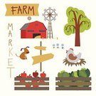 Farm,Cartoon,Mill,Livestock,Fun,Tree,Domestic Animals,Bird,Mammal,Non-Urban Scene,Characters,Cute,Flower,Outdoors,Nature,Apple - Fruit,Architecture,themes,Cattle,Backgrounds,Animal,Animal Themes,Pets,Agriculture,Grass,Business,Vector,Ilustration,Cabbage,Activity,Fruit,Set,Rural Scene,Dog