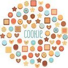 Cookie,Flat,Macaroon,Retro Revival,Old-fashioned,Heart Shape,Sign,Cracker,Symbol,Chocolate,Computer Icon,Sugar Cookie,Badge,Baking,Collection,Remote,Peanut Butter Cookie,Chocolate Chip Cookie,Cake,Gourmet,Baked,Cream,Set,Flour,Dessert,Bakery,Food,Gingerbread Cookie,sandwich cookie,Shape,Pattern,Vector,Star Shape,Snack