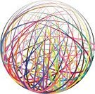 Complexity,Connection,Concepts,Ideas,String,Striped,Multi Colored,Circle,Abstract,Curve,Vector,Ilustration,Colors,Sphere,Computer Graphic,Shape