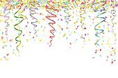 Confetti,Streamer,Celebration,Carnival,Birthday,Falling,Vector,Decoration,Circle,Ornate,Traditional Festival,Year,Surprise,Backgrounds,Decor,Gift,Anniversary,Computer Graphic,Christmas,Ribbon,Valentine's Day - Holiday,Ilustration,Holiday,Multi Colored,Greeting
