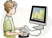 Leisure Games,Play,Child,Pre-Adolescent Child,Computer Monitor,Computer,Little Boys,Drawing - Art Product,Determination,Addiction,Wired,Computer Mouse,Computer Keyboard,Education,Learning,Internet,Focus - Concept,Line Art,Design,Strategy,Work Tool,Electrical Equipment,Technology,Skill,Vector
