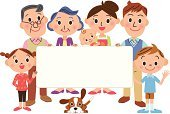 Baby,Grandmother,Bulletin Board,Family,Mother,Men,Grandfather,Whiteboard,Little Boys,Dog,Child,Women,Father
