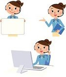 Operator,PC,Call Center,Delivering,Talking,Working,Part Of,Bulletin Board,Information Medium,Smiling,Microphone,Businesswoman,Customer Service Representative