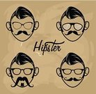 Elegance,Sunglasses,Vector,Ilustration,Mustache,Eyeglasses,Hipster,Classic,Lifestyles,Cultures,Funky,Design,Humor,People,Computer Graphic,Retro Revival,Fashion