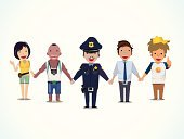 Offspring,Clip,Cutting,Clip Art,Cartoon,Pedestrian,White,Uniform,Street,Police Force,Education,Computer Graphic,Officer,People,Security,Traffic,Men,Male,Security Guard,Protection,Ilustration,Isolated,Vector