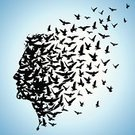 Bird,Flying,Freedom,Human Head,Human Brain,Human Face,Flock Of Birds,People,Exploding,Imagination,Herd,Men,Profile View,Symbol,Wing,Intellectual Property,Thinking,Migrating,Concepts,Creativity,Ideas,Shape,Variation,Nature,The Human Body,Textured Effect,Motivation,Wildlife,Group Of Animals,Sky,Outdoors,Shadow,flying birds,Solution,Computer Graphic,Style,Living Organism,Exploitation,Modern,Inspiration,Concentration