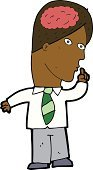 Drawing - Activity,Cultures,Ilustration,Intelligence,Doodle,Clip Art,Large,Men,Business,Cheerful,Businessman
