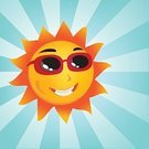 Sun,Cartoon,Smiling,Sunglasses,Sunlight,Human Face,Cheerful,Happiness,Star - Space,Sunbeam,Shiny,Cute,Day,Bright,Ilustration,Characters,Vector,Heat - Temperature,Sky,Positive Emotion,Weather,Projection,Light - Natural Phenomenon,Glowing,Vibrant Color,Illustrations And Vector Art,Yellow