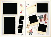 Scrapbook,Photo Album,Collage,Photography,Postcard,Photograph,Frame,Diary,Retro Revival,Page,Vector,Plan,Montage,Photo Booth Picture,Patriotism,Old-fashioned,American Flag,Label,Scrapbooking,Instant Print Transfer,Postage Stamp,Dirty,Digital Composite,Heart Shape,Blank,USA,Grunge,Flower,Gift Tag,Floral Pattern,Design Element,Postmark,Ilustration,Empty,No People,Art And Craft,Correspondence,Illustrations And Vector Art,Copy Space