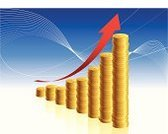 Chart,Graph,Currency,Business,Finance,Growth,Bar Graph,Three-dimensional Shape,Marketing,Coin,Computer Graphic,Savings,Moving Up,Arrow Symbol,Diagram,Gold Colored,Success,Vector,Stock Market,Backgrounds,Making Money,Wealth,Investment,Report,Digitally Generated Image,Gold,Blue,Improvement,Reflection,Design,New Business,Sparse,Currency Symbol,Empty,Data,Modern,Striped,Multi Colored,Shiny,Clean,No People,Part Of,Business,Horizontal,Illustrations And Vector Art,Business Concepts