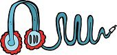Cultures,Ilustration,Telephone,Drawing - Activity,Doodle,Cheerful,Clip Art,Headphones