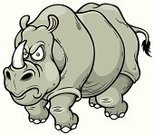 Vector,Moving Toward,Strength,Vegetarian Food,Vertebrate,Zoo,Wildlife,Rhinoceros,Nature,Cute,Large,Animal,Endangered Species,Pursuit - Concept,Mammal,Ilustration,Africa