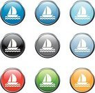 Yacht,Nautical Vessel,Sailing,Symbol,Yacht,Wave,Computer Icon,Icon Set,Green Color,Black Color,White,Red,Blue,Circle,Sphere,Orange Color,Curve,Wave Pattern,Black Background,Red Background,Sine Wave