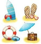 Technology,Travel,Bag,Surfboard,Vacations,Web Page,Icon Set,Design Element,Isolated,Symbol,Scrapbook,Ornate,Travel Destinations,Tourist Resort,Sunlight,Ball,Set,Ilustration,Collection,Design,Sunglasses,Parasol,Summer,Sun,Hawaii Islands,Tourism,Buoy,Life Belt,Vector,Idyllic,Insignia,Sandal,Suitcase,Tropical Climate
