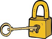 Drawing - Activity,Cultures,Ilustration,Doodle,Clip Art,Sign,Symbol,Cheerful,Padlock