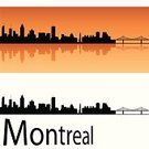 Montreal,Urban Scene,Urban Skyline,Bridge - Man Made Structure,Architecture,Travel,Black Color,Travel Destinations,Backgrounds,Orange Background,White,Tourism,Reflection,Building Exterior,North America,Isolated,Silhouette,Skyscraper,Tower,Canada,Panoramic,Outline,Ilustration,Famous Place,City,Orange Color,Cityscape