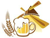 Frothy Drink,Painted Image,Cold - Termperature,Cool,Stout,Creativity,Concepts,Drawing - Art Product,Digitally Generated Image,White,Brown,Remote,Alcohol,Beer - Alcohol,Beer Glass,Ideas,Yellow,Image,Vector,Mug,Drink,Watermill,Windmill,Ilustration,Computer Graphic