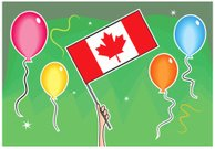 Canada,Leaf,Canadian Culture,Flag,Vector,Individuality,Celebration,Canadian Flag,Waving,Holiday,National Landmark,Event,Party - Social Event,Celebration Event,hurray,Illustrations And Vector Art,National Flag,Clip Art,Computer Graphic,Group of Objects,Patriotism,Cheering,Day,Balloon
