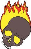 Cracked,Clip Art,Burning,Fire - Natural Phenomenon,Flame,Bizarre,Doodle,Cute,Ilustration,Drawing - Activity,Cheerful,Halloween