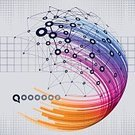 Multi Colored,Vector,Backgrounds,Technology,Abstract,Connection,Information Medium,Internet,Blue,Social Networking,Wireless Technology,Futuristic,Spotted,Network Server,Data,Computer Network,Community,The Media