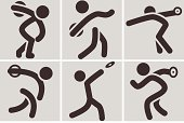 Throwing,Disk,Vector,Athlete,Playing Field,Computer Icon,Sport,Discus,Ilustration,The Olympic Games,Activity,Set,Action,Sign,Symbol,Strength,Competitive Sport