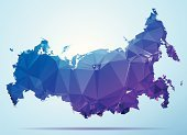Russia,Cartography,Map,Abstract,Geometric Shape,Facet,Grid,Purple,Asia,Computer Graphic,Horizontal,Modern,Origami,Crystal,Two-dimensional Shape,Triangle,No People,Country - Geographic Area,Simplicity,Color Image,Design,Clip Art,Pattern,Futuristic,triangulation,Mosaic,Digitally Generated Image,Travel Destinations,Blue,Low Poly,Ilustration,Vector,Blue Background,Diamond Shaped