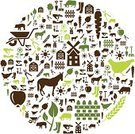 Cereal Plant,Computer Icon,Symbol,Agriculture,House,Sun,Fence,Plant,Hen,Pig,Tree,Ilustration,Circle,Interface Icons,Carrot,Flower,Mill,Wheel,Apple - Fruit,Cow,Computer Graphic,Vector,Farm,Nature,Hedge Clippers,Seed,Horse,Barn,Poppy
