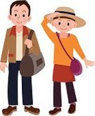 People Traveling,Travel,Tourist,Women,Japanese Ethnicity,Journey,Package,Characters,Ilustration,Tourism,Smiling,Joy,Looking At View,Heterosexual Couple,Married,Autumn,Men,Vector,Cute,Two People,Fun,Newlywed,Happiness,Enjoyment,Honeymoon