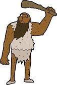 Cheerful,Doodle,Bizarre,Clip Art,Drawing - Activity,Ilustration,Men,Cave,Cute,Neanderthal