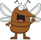 Pest,Mosquito,Smiling,Talking,Wing,Vector,Ilustration,Ideas,Insect,Brown,Cartoon,Cheerful,Inspiration,Happiness,Animal