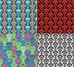 Red,Pattern,Black And White,repeatable,Multi Colored,Backgrounds,Ilustration,Collection,Abstract,Computer Graphic,Vector