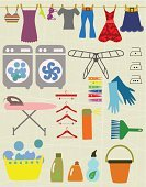 Coathanger,Chores,Clothing,Collection,Bleach,Clothespin,Basket,Sock,Vector,Series,Label,Appliance,Dry,Dryer,Machinery,Sign,Symbol,Wet,Image,Ilustration,Garment,Computer Graphic,Domestic Life,Housework,Equipment