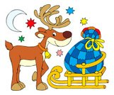 Reindeer,Christmas,Deer,Cartoon,Child,Sled,Animated Cartoon,Year,New,Sleigh,Offspring,Winter,Vector,Toy,Bag,Characters,Humor,Clip Art,Gift,Real People,Laughing,Preschool,Night,kiddish,Childhood,new-year,Season,Childishness,Moon,Record,Holiday,Celebration,Illustrations And Vector Art,Celebration Event,Christmas,Curve,Tracing,Holidays And Celebrations,New Year's,Traditional Festival,hand drawing,Cultures,Star Shape,Vacations